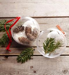 Easy-fill ornaments. How-to: http://www.midwestliving.com/holidays/christmas/easy-homemade-christmas-ornaments/