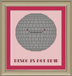 Disco is not dead funny crossstitch pattern by nerdylittlestitcher, $3.00