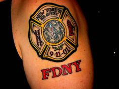 911 Memorial Tattoo - FDNY Tribute - Maltese Cross - New York's Bravest (343)  shared by NYC Firestore
