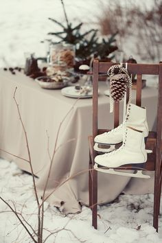 ice skates as decor