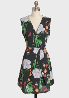 Midsummer Charm Printed Dress