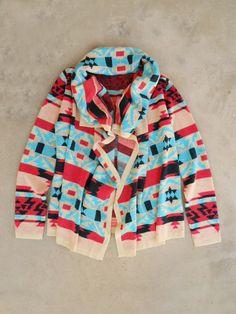 Colorful Southwestern Knit Cardigan <3 #navajo