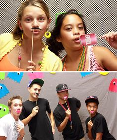 80s Printable Photo Booth Props | | Paper & Cake