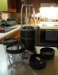 Cool, my #Nutribullet came in today ... gotta get to the store sometime this weekend & stock up on some produce to pulverize in it haha. This'll help me get more veggies into my diet then; as well as more fruit, nuts, & seeds ;). Much larger than the Magic Bullet; which is nice. Should be quite a useful kitchen tool for me. I already wanna try a guacamole recipe for sure. Yum yum hehe.