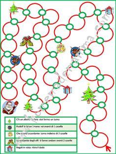 Gioco dell'oca di Natale da stampare gratis