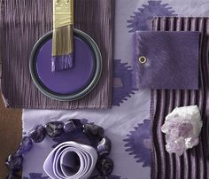 Ready for a bold change? Try painting an accent wall in this rich purple.