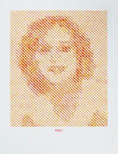 hand-stitched portraits by evelin kasikov