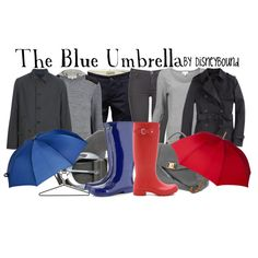 """""""The Blue Umbrella"""" by lalakay on Polyvore"""