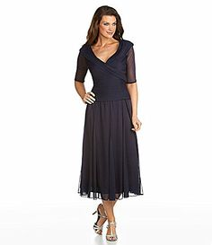 Alex Evenings Woman PortraitCollar Mesh Gown #Dillards