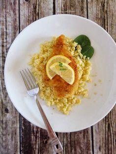 Baking with Blondie : Lemon Chicken Scaloppine in Pine Nut Parmesan Crust