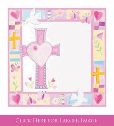 Christening Napkins Pink for Dove Christening Party Supplies or Butterfly Baptism Party Supplies at Set To Celebrate. So Sweet!