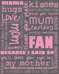 Free Mother's Day Printables {includes this subway art and a beautiful quote} Instant Downloads