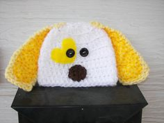 Yellow Puppy Hat photography prop by mandag433 on Etsy, $20.00