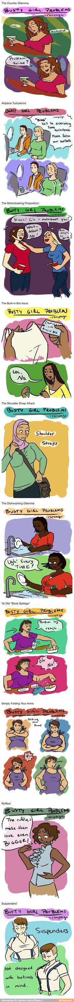 Busty girl problems lol