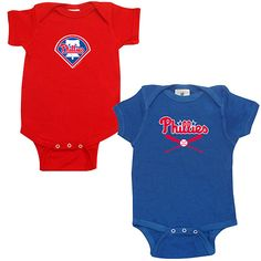 Philadelphia Phillies 2-Pack Creeper Set by Soft as a Grape