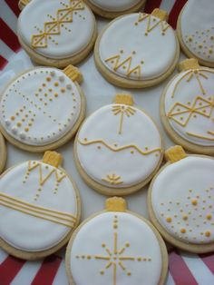 Christmas Ornament cookies - make them out of salt dough for the tree or as cookies for Christmas morning.