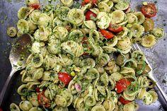 Tomato Basil Orecchietti with Pistachios by joythebaker #Pasta #Pesto #PIstachio