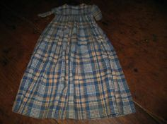 EARLY-HAND-SEWN-DOLL-DRESS