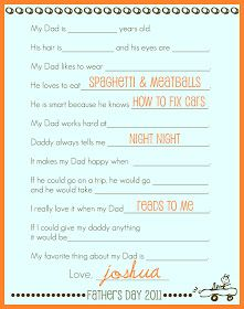Simply Montessori: Printable Father's Day Interview Poster