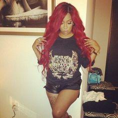 K Michelle Red Hair Bob ... kmichel hair3 hair style black beautiful k michele k michelle hair 3