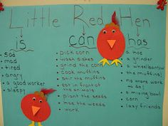 Little Red Hen tree map, little red hen, reading comprehension