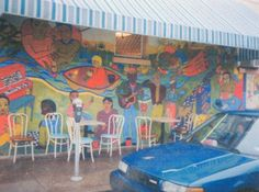 Mural on the wall of the former Socrates Coffee Shop on Wealthy & Ethel in Eastown - 1997