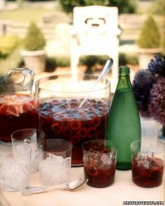 Bing Cherry Mojitos | summer punch cocktails