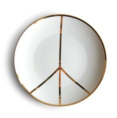 peace sign plate
