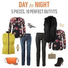 #CAbi- Get a jump on your day with these 5 pieces that transition your outfits from day to night.  #cabiclothing #fallfashion #daytonight