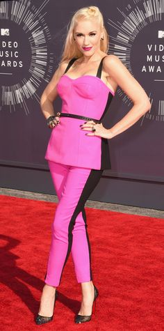 Video Music Awards 2014 Red Carpet Arrivals - Gwen Stefani in L.A.M.B. Couture #InStyle