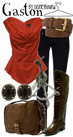 boot, disney inspired outfits, gaston, dress, disney bound, disneybound, the beast, disney characters, disney fashion