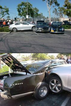 The driver if this Lexus jumped a curb, went through the bushes, and T-boned this Pontiac parked at a car show █ † █ #lamistardilocast #accident #collision #crash #colisión #коллизия █ † █