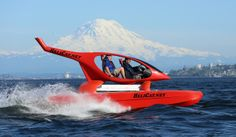 """Helicopter-inspired catamaran """"flies"""" over rough water By C.C. Weiss April 11, 2014 The Helicat 22 'takes off'"""