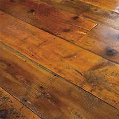 Weathered barn board floors, the squeakier the better.