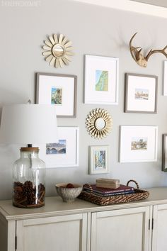Simple Fall Decorating and Gallery Wall