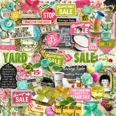 A huge yard sale themed scrapbook collection from Raspberry Road Designs.