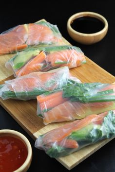 Secretsaucerecipes.com  Smoked Salmon Veggie Spring Rolls by simplylifeblog #Spring_Rolls #Salmon  Like ,Repin And Comment