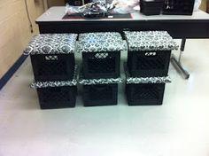 milk crate stools