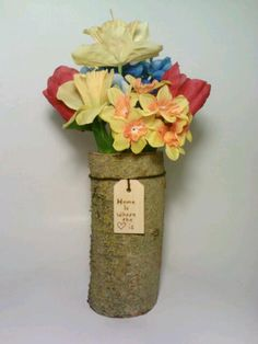 Wedding Centerpiece Vase Pen Holder Log Vase by DeerwoodCreekGifts, $20.00