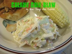 Now Things are Cookin: Creamy Cole Slaw saladssid dish, creamy cole slaw, coleslaw recip, picnic food, veggi, creami cole