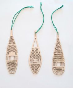 Snowshoe Ornaments (Set of 3) <<>> BY HENDERSON DRY GOODS AT BRIKA