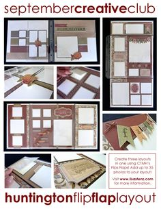 Flip Flap layout by Lisa Stenz using CTMH Huntington paper