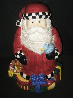 Debbie Mumm's Santa Cookie Jar made by Sakura