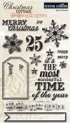 Christmas Cottage | Teresa Collins Designs - Stamps