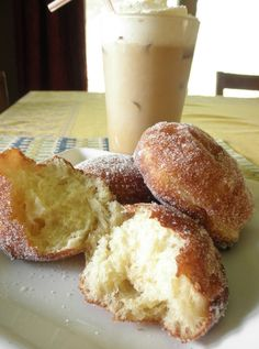 Malasadas: Portuguese fried dough. In Hawaii is often eaten with berry/custard filling