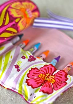 How to Sew a Crayon Roll | Prudent Baby