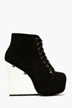 Dina Wedge Boot - Black