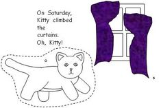 """Kitty's Week Emergent Reader {goes along with the book, """"Cookie's Week""""}"""