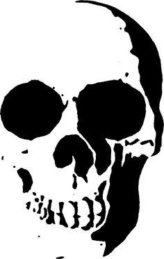 Skull stencil template