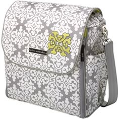 Yellow and grey diaper bag